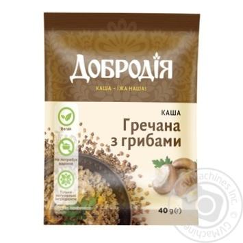 Каша Добродія гречневая с грибами 40г