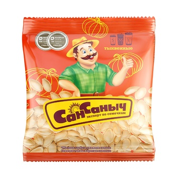 San Sanych Salted Pumpkin Seeds 40g - buy, prices for Furshet - image 1