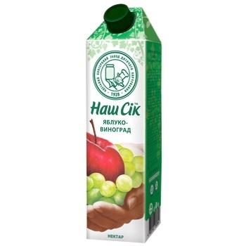Apple-grape nectar Nash Sok 950ml - buy, prices for CityMarket - photo 1