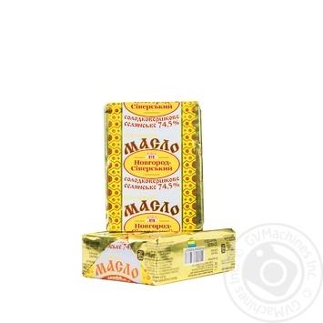 Масло Новгород-Северский Селянское сладкосливочное 74.5% 200г