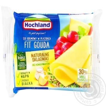 Сыр плавленый Hochland Гауда фитнес ломтиками 130г