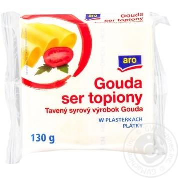 Сыр Аро Гауда плавленый ломтики 36.2% 130г Польша