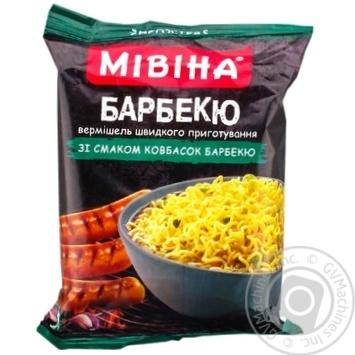 Вермішель Мівіна зі смаком ковбасок барбекю 59,2г