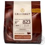 Шоколад Callebaut №823 бельгийский молочный в виде калет 33,6% 400г