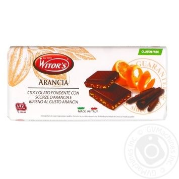 Шоколад черный Witor's апельсин 100г