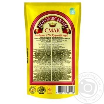 Майонез Королевский Вкус Королевский 67% дой-пак 200г Украина - купить, цены на Novus - фото 2