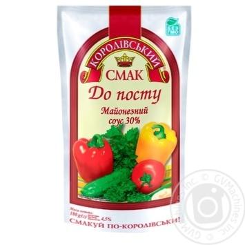 Соус майонезный Королівський смак К посту 30% 180г