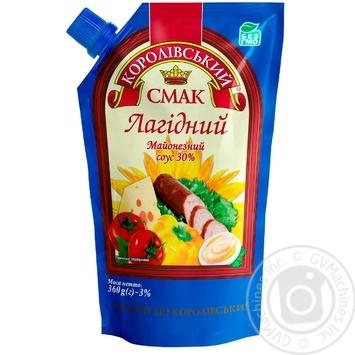 Майонезный соус Королевский вкус Нежный 30% 360г
