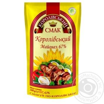 Майонез Королевский Вкус Королевский 67% дой-пак 200г Украина - купить, цены на Novus - фото 1