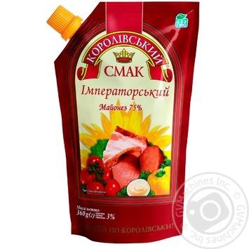 Mayonnaise Korolivskiy Smak Imperial 75% doypack 410g Ukraine