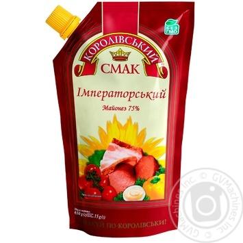 Майонез 75% Імператорський Королівський смак д/п 650г - купити, ціни на Novus - фото 1