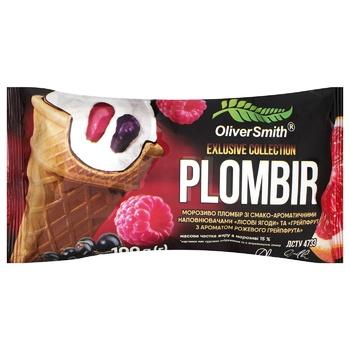 Мороженое Oliver Smith Пломбир Лесные ягоды и грейпфрут 100г
