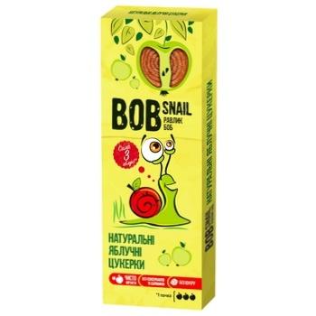 Цукерки Bob Snail натуральні яблучні 30г