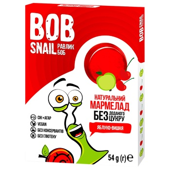 Bob Snail Marmelade apple-cherry without sugar 54g - buy, prices for Auchan - photo 1