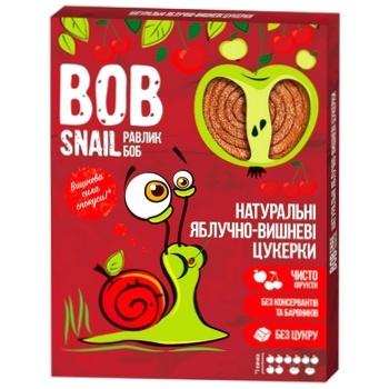 Конфеты Bob Snail яблочно-вишневые натуральные 120г
