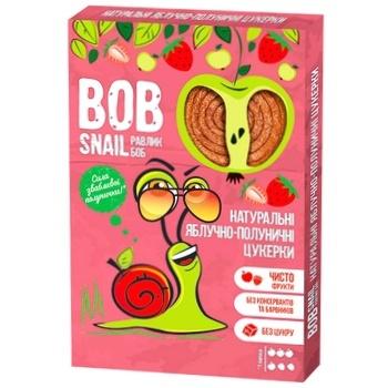 Конфеты Bob Snail натуральные яблочно-клубничные 60г - купить, цены на Космос - фото 1