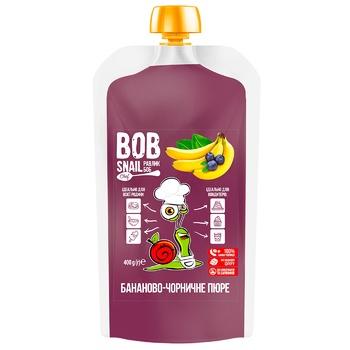 Пюре фруктовое Snail Bob Банан-Черника 400г