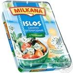 Сыр Милкана Ислос рассольный салатно-бутербродный с травами 41% 180г ванночка Польша