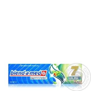 Зубная паста Blend-A-Med Комплекс Отбеливание + Природная свежесть Мята и эвкалипт 100мл - купить, цены на Ашан - фото 6