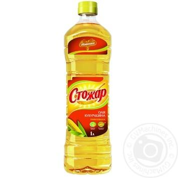 Олія Стожар кукурудзяна рафінована 1000г пластикова пляшка Україна