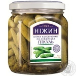 Vegetables cucumber Nizhyn Chow-chow pickled 650g glass jar Ukraine