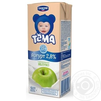 Йогурт детский Тема яблоко с 8 месяцев 2.8% 207г тетрапакет Украина