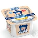 Cottage cheese Tema banana for 6+ months babies 4.2% 100g plastic cup Ukraine