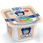 Cottage cheese Tema apple-carrot for 8+ months babies 4.2% 100g plastic cup Ukraine