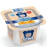 Cottage cheese Tema apricot for 6+ months babies 4.2% 100g plastic cup Ukraine