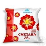 Сметана Добриня 25% 450г плівка Україна