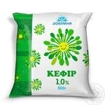 Кефір Добриня 1% 500г плівка Україна