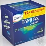 Tampons Discreet Tampax Compak super 16pcs