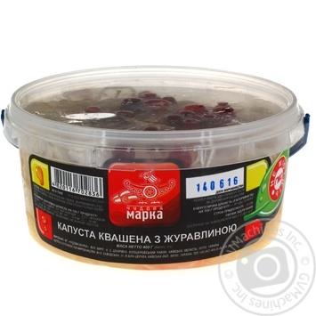 Салат Чудова Марка Капуста квашеная с клюквой 400г - купить, цены на Novus - фото 2