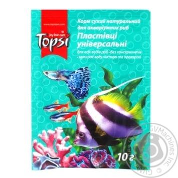 Корм сухой натуральный для аквариумных рыб Хлопья универсальные 10г