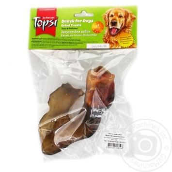 Ухо говяжье сушеное Topsi для собак 60г