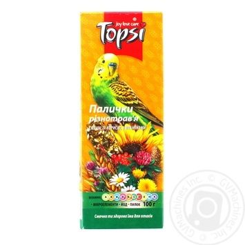 Палички Topsi різнотрав'я для папуг 100г