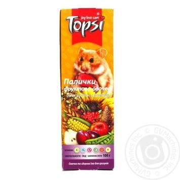 Палочки Topsi Фруктово-овощные для грызунов 100г