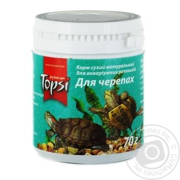 Корм сухий натуральний Topsi для черепах банка 70г