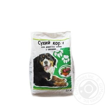 Сухой корм Каждый день для взрослых собак с овощами 2.5кг