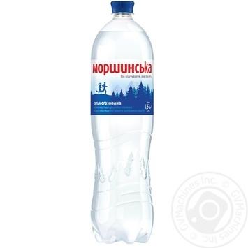 Минеральная вода Моршинская природная сильногазированная 1,5л