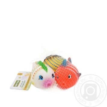 Набор игрушек для ванны Baby Team Цветные рыбки - купить, цены на Novus - фото 1
