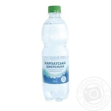 Вода Novus Карпатська джерельна слабогазированная минеральная 0,5л - купить, цены на Novus - фото 1