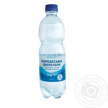 Вода Novus Карпатська джерельна сильногазированная минеральная 0,5л - купить, цены на Novus - фото 1