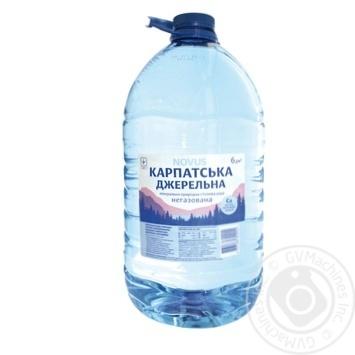 Вода мінеральна негазована Карпатська джерельна Novus 6л - купить, цены на Novus - фото 1