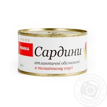 Сардини атлантичні обсмажені в томатному соусі Marka Promo 240г - купить, цены на Novus - фото 1