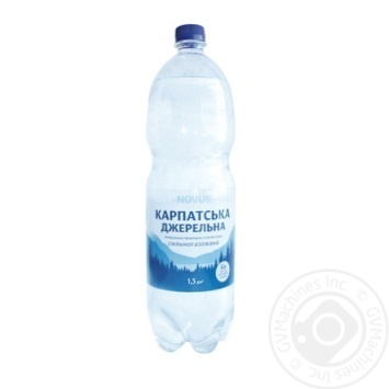 Вода Novus Карпатська джерельна сильногазированная минеральная 1,5л - купить, цены на Novus - фото 1