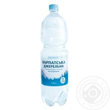 Вода мінеральна негазована Карпатська джерельна Novus 1,5л - купить, цены на Novus - фото 1