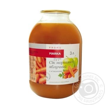 Сік морквяно-яблучний з м'якоттю стерилізований Marka Promo 3л - купить, цены на Novus - фото 1
