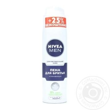 Пена для бритья Nivea Men для чувствительной кожи 200мл - купить, цены на Метро - фото 1