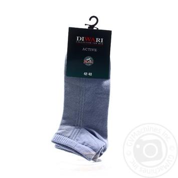 Шкарпетки чол Diwari ACTIVE короткі р.27 018 св.джинс пара - купити, ціни на Novus - фото 2